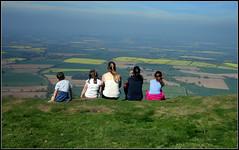 The Wrekin Hill, Wellington, Shropshire. (marj.p. (Catching up!!)) Tags: thewrekinhillshropshire grandchildren walk familywalk countryside view viewfromabove canonpowershot wellingtonshropshire landscape breathtakingview picnic