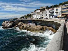 Corniche ©christel-le (christel-le) Tags: mer vagues corniche marseille rock sea cornice waves water