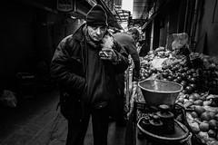 Green grocer (Mustafa Selcuk) Tags: 2017 eminonu fujifilm istanbul street streetphotographer streetphotography streetshooter travel turkey greengrocer grocer blackandwhite bnw bw siyahbeyaz monochromatic monochrome