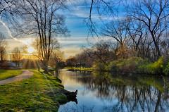Morning Sunshine along the Canal (kendoman26) Tags: hdr nikhdrefexpro2 morrisillinois imcanal iandmcanal imcanaliandmcanal travelillinois enjoyillinois nikon nikond7100 tokinaatx1228prodx tokina tokina1228 sunrise sunburst