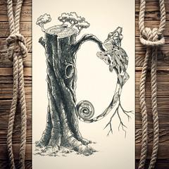 Dhameleon (reXraXon) Tags: raxon art artwork pencilart drawing handdrawing sketch pencilsketch typography lettering handlettering letteringart chameleon tree