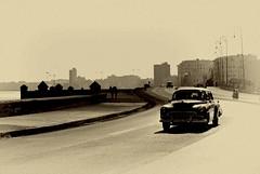 Havana (rabataller) Tags: cuba elmalecon cuban havana lahabana caribbean caribe sepia rabataller leica leicavlux car citiesoftheworld