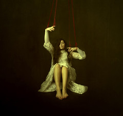 The Puppet And The Master (Maren Klemp) Tags: fineartphotography fineartphotographer darkart puppet strings dress selfportrait woman color selfportraits portrait painterly ethereal dreamy vintage texture naturallight fineart conceptual surreal