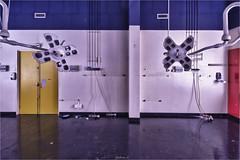 Hopital de la délivrance0 (ju.lepine) Tags: julienlépine urbex urbain urbandecay urban urbanexplorer exploration explorer hopital scialytique bloc opération collor couleur symétrique