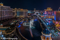 Looking down on the Fountains (NuSkoolPhotography) Tags: a7rii codychastain landscape landscapes lasvegas lasvegasnv lasvegasstrip nevada nightphotography nuskoolphotography sony sonyalpha sonyphotography spring star stars summernight summernights thestrip