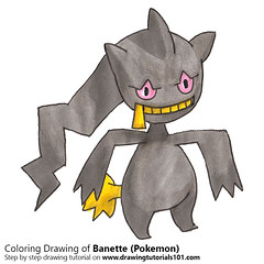 Banette from Pokemon (drawingtutorials101.com) Tags: pokemon banette anime manga sketch sketches sketching draw drawing drawings color coloring how time lapse timelapse timelapsevideo speeddrawing promarker promarkers markers marker