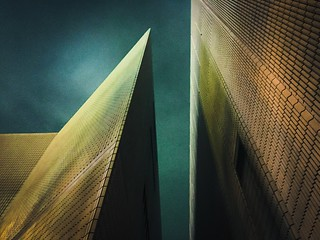 Architecture Built Structure No People Building Exterior Low Angle View Outdoors Night Modern Sky Futuristic Shape Pattern, Texture, Shape And Form Light And Shadow Light In The Darkness Modern Architecture Conflict Fine Art Photography Art Photography Le