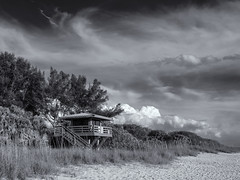 Nokomis beach (Tim Ravenscroft) Tags: nokomis beach sarasota florida landscape sky monochrome blackwhite hasselblad x1d clouds