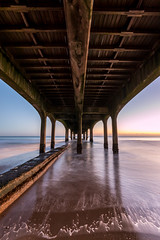 Underbelly (Wizmatt) Tags: boscombe pier dorset coast sea seaside ocean horizon sunset wood texture structure building blue red rust sand water waves long exposure landscape photography bournemouth