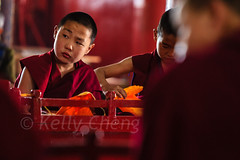 Mongolia-130803-615 (Kelly Cheng) Tags: amarbayasgalantmonastery asia buddhism centralasia mongolia boy ceremony child color colorful colour colourful culture heritage horizontal indoor monk people persons pray prayer red religion tourism travel traveldestinations vivid