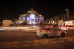 Palacio de Bellas Artes (joepersuca) Tags: cdmx mexico city long exposure 17mm traffic palacio de bellas artes warp speed super wide lens tokina night