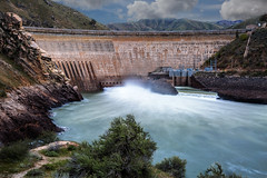 arrowrock dam-04-18-17-9 (Ken Folwell) Tags: water dams outdoor landscape clouds rivers reservoir idaho spring canon5diii river waterfall