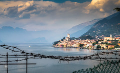 forbidden view of malcesine (MF-otografie) Tags: gardasee lagodigarda malcesine lake city landscape cloud