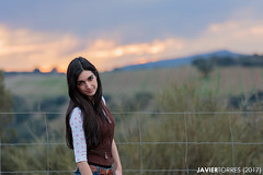 Margui II (The Whisperer of the Shadows) Tags: margarita margui model modelo posing pose portrait retrato chica girl mujer woman sunset atardecer dusk ocaso landscape paisaje clouds nubes canon70200f4l countryside campo geotagged beauty belleza