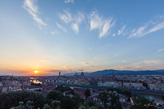 View from the Piazzale Michelangelo, located just above Porta San Niccolo is famous for Florence's sunset (Susanna Siu) Tags: travel traveleurope travelitaly fierence florence canon5dmarkll canonef1635mmf28liiusm canon sunset