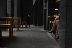 Temptation (Ranga 1) Tags: city girl canon office candid australian streetphotography australia melbourne streetscene victoria temptation cinematic davidyoung ef24105mmf4lusm canoneos5dmarkii