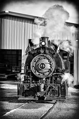 Bellowing Steam_MG_2933 (Kool Cats Photography over 7 Million Views) Tags: blackandwhite oklahoma museum train canon historic locomotive oklahomacity railroads steamlocomotive livesteam yabbadabbadoo oklahomarailwaymuseum