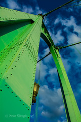 St. Johns Bridge (31 of 80) (oregonsbragia) Tags: bridge green st metal oregon portland suspension gothic perspective johns