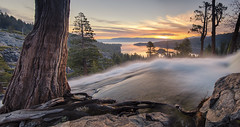Light in Nature creates the movement of colors… (ferpectshotz) Tags: nature clouds sunrise waterfall laketahoe sierranevada alpinelake emeraldbay southlaketahoe eaglefalls easternsierra
