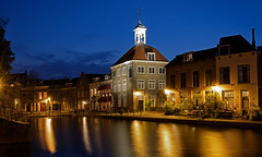 Schiedam at Night (Peter Witberg) Tags: blue light reflection water netherlands night clouds licht nikon blauw wolken timeexposure schiedam d7100 pwpartlycloudy wsweekly80
