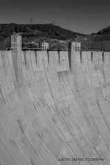 Hoover Dam (Mr Justin Jim) Tags: arizona blackandwhite usa canon colorado dam nevada hoover 60d justinjimphotography