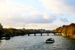 Paris, France. (louise barbara) Tags: travel bridge paris france seine river boat eiffeltower wanderlust