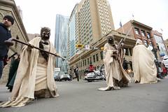 Calgary Expo Parade of Wonders (Neil Zeller Photography) Tags: calgary starwars costume expo cosplay cinderella hobbit comiccon chewbacca c3po princecharming nenshi downtowncalgary calgaryexpo sonsofanarchy paradeofwonders powparade