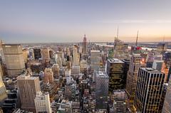 On The Top (Nasbe Photography) Tags: nyc sunset newyork rooftop spectacular view unitedstates manhattan empirestatebuilding topoftherock rockfeller