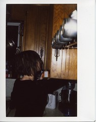 Sarah in the kitchen (gunstreet.girl) Tags: film sarah 52 instax instantphoto instax210 blhaus