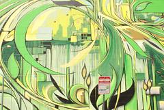 Part of an Ian Ross mural behind a zip car parking sign, San Francisco (chloe & ivan) Tags: sanfrancisco ca streetart murals dayofthedonut ianrossgallery