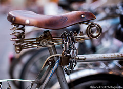 Selle cadenasse... (Etienne Ehret) Tags: street france bicycle canon 50mm bokeh mark f14 iii sigma strasbourg alsace 5d rue bicyclette vlo selle
