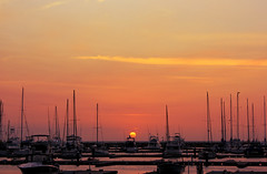 Bahia de Santa Marta (Campanero Rumbero) Tags: city trip travel sunset sky sun beauty atardecer colombia day ciudad clear cielo bahia turismo santamarta yates bello