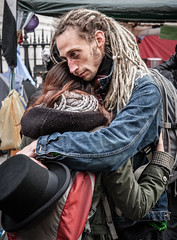Hug a hippie (Kevin Lloyd) Tags: england london dreadlocks canon hug emotion unitedkingdom candid streetphotography hippie stpaulscathedral tender tenderness occupy 40d 1755mmf28is occupylondon