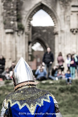 [2014-04-19@14.02.40a] (Untempered Photography) Tags: history costume focus ruins helmet medieval saturation knight armour reenactment combatant chainmail glastonburyabbey canonef50mmf14 perioddress platearmour mailarmour untemperedeye canoneos5dmkiii untemperedeyephotography battleheritage glastonburymedievalfayre2014