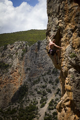 First day of summer in Twin Caves, Leonidio, Greece (Vertical Planar) Tags: twin greece climbing caves sector limestone rockclimbing crux peloponesse peloponnese leonidio sportclimbing