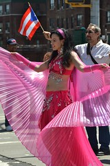 Belly Dancer (KaDeWeGirl) Tags: newyorkcity pink bronx bellydancer parade explore puertorican 173 grandconcourse