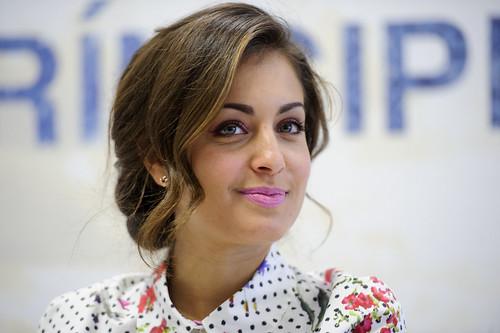 """Hiba Abouk en la presentación de la segunda temporada de """"El Príncipe"""""""