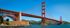 Golden Gate Bridge (40 image stitch) (dv.flameartist) Tags: sanfrancisco county bridge water stitch steel marin pacificocean goldengatebridge transportation headlands fortpoint sfbay ggnra internationalorange hugin goldengatenationalrecreationarea olympus75mmf18