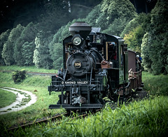 Climax Steam Train (Spanrz) Tags: melbourne emerald steamtrain narrowgauge climax woodburner puffingbilly 1694 gembrook canon6d 70200lisii