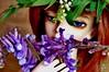 Violet Bells (Photo_Shigatsu) Tags: blue red plant flower green nature grass doll bell violet elf resin florews