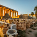 The Colonnade of Amenhotep III on the background - Luxor Temple