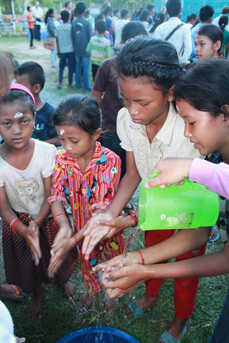 Hand washing demonstration