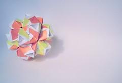 Sapphire Kusudama (Clint Joe) (Clint Joe) Tags: paper origami joe modular clint paperfolding folding sapphire kusudama