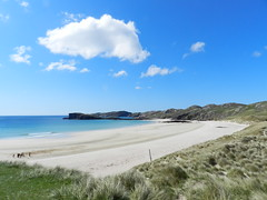 Oldshoremore Beach, Kinlochbervie, North West Sutherland, May 2014 (allanmaciver) Tags: blue sky people west beach sunshine weather clouds amazing north large explore glorious enjoy miles distance sutherland kinlochbervie oldshoremore allanmaciver