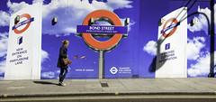 Improved Customer Service (stevedexteruk) Tags: street london canon underground eos construction transport tube pedestrian hoarding builders bond upgrade 2014 600d 1585