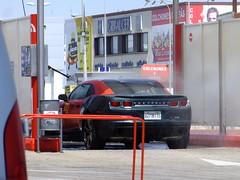 Camaro in the Car Wash (stevenbrandist) Tags: red chevrolet car spain camaro cleaning carwash espana chevy washing algeciras jetwash lavapark