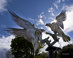 """Buzzards Sculpture"" (johnwilly) Tags: canon5d malvern buzzards ef24105lis bwcpl"