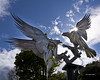 """Buzzards Sculpture"" (johnwilly) Tags: canon5d malvern buzzards ef24105lis bwcpl"