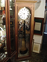 """HUGE REGULATOR WALL CLOCK WITH EXQUISITE PENDULUM. • <a style=""""font-size:0.8em;"""" href=""""http://www.flickr.com/photos/51721355@N02/14391710546/"""" target=""""_blank"""">View on Flickr</a>"""