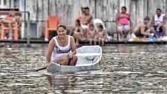 the woman and her River (L▲iv ©) Tags: woman white rio brasil boat nikon fiume manaus brasile amazonas 2014 amazzonia laivphoto brasil2014